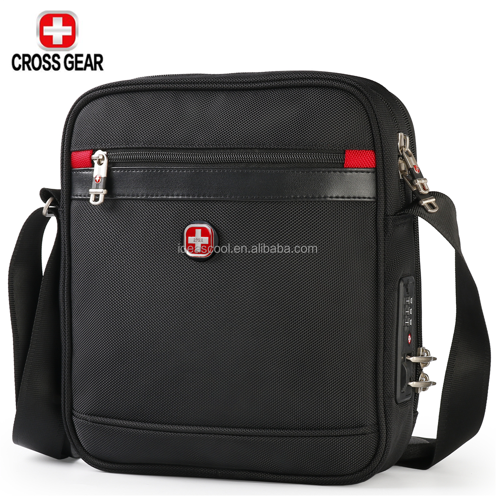 CROSS GEAR Waterproof nylon business laptop shoulder messenger bag factory