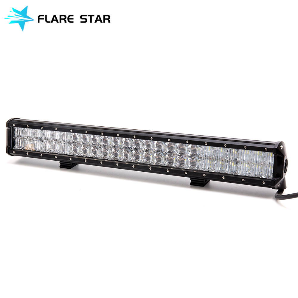 5D 144W Double Row LED Light Bar, 4WD Car Accessories Driving Lamp For for Jeep Wranger, Offroad Spot Flood Comb Worklight 23""