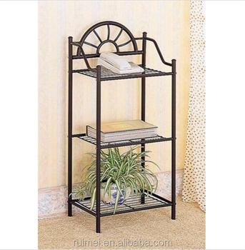 Corner Stand Table Phone Rack Decor Home Side Wrought Iron Display