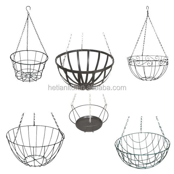 Wire Flower Basket Metal Wire Flower Basket Hanging Wire