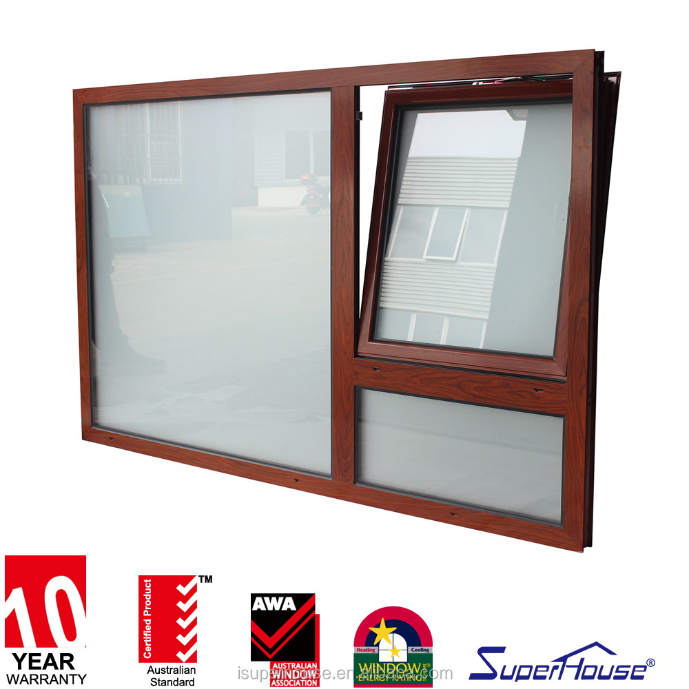 Aluminium tilt out Hinge window Two open way Obscure glass Aluminium Tilt and Turn Windows With German Hardwares
