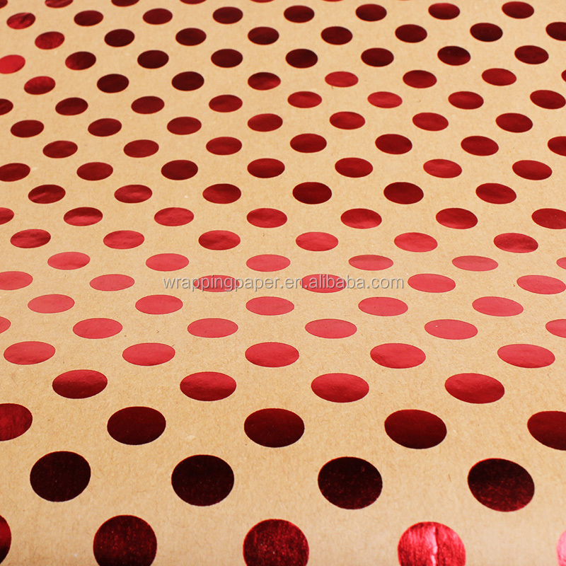 New gift wrapping paper gold star dot stripe gift wrapping paper manufacturer direct support customization