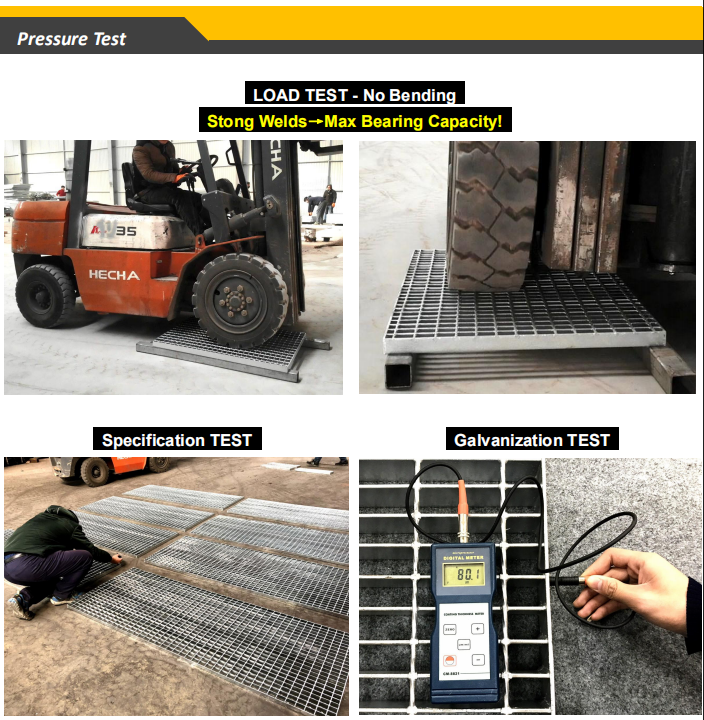 Welded Metal Steel Bar Grating Plate Prices Weight Specification
