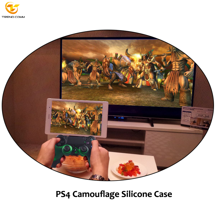 Fashion Camouflage Case cover skins for ps4 controller silicone
