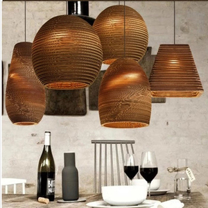Staircase bar industrial corrugated paper honeycomb pendant lighting