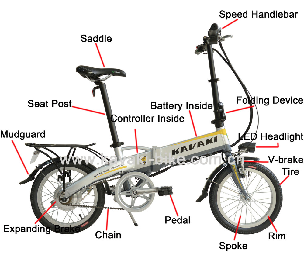 2015 Latest Design Small Folding Electric Bicycle Electric Chopper ...