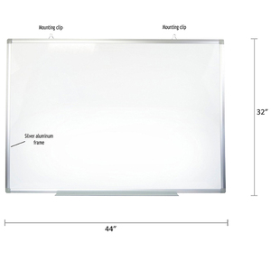 Dry Erase Classroom Wall Mount Magnetic 72 X 40 Inches Menu board and Whiteboard with Aluminum Frame