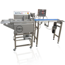 Automatische mini chocolade enrobing/temperen machine voor biscuit <span class=keywords><strong>cake</strong></span> candy coating