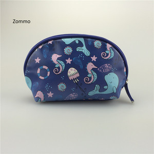 Eco Friendly Lady Makeup Round Toiletry Cosmetic Bag