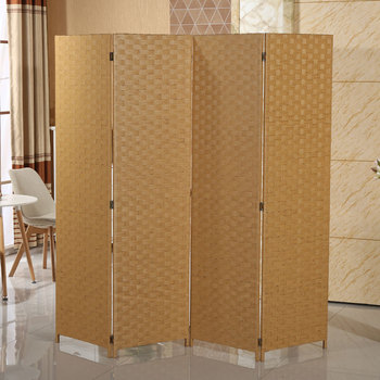 Decorative Partition 6 Panel Wood Room Divider For Children Room