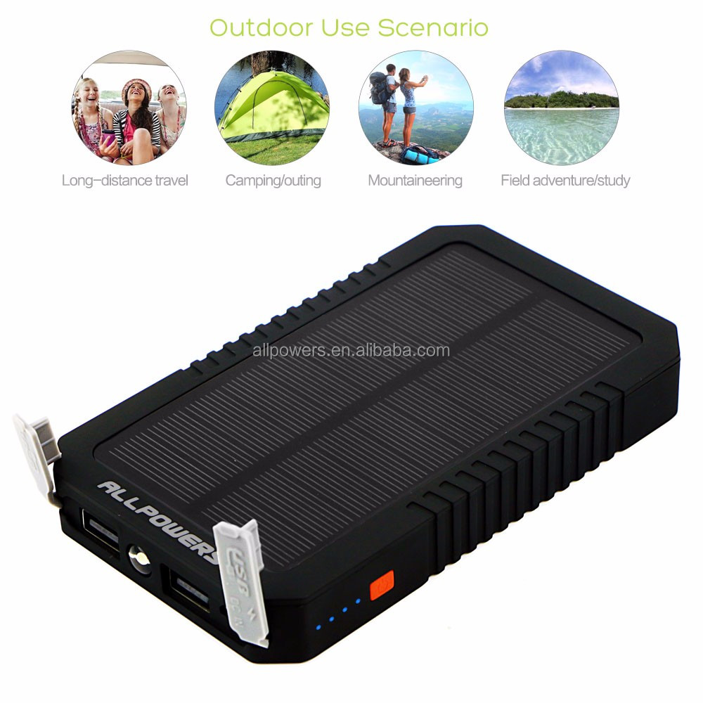 Trendy Outdoor Solar Charger 12000mah Solar Mobile Power Bank Charger for Samsung iphone HTC for Huawei etc.