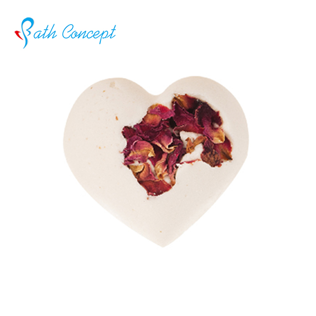love shape flower petal fragrant bath bomb