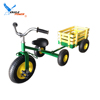 tricycle with big red trailer wagon