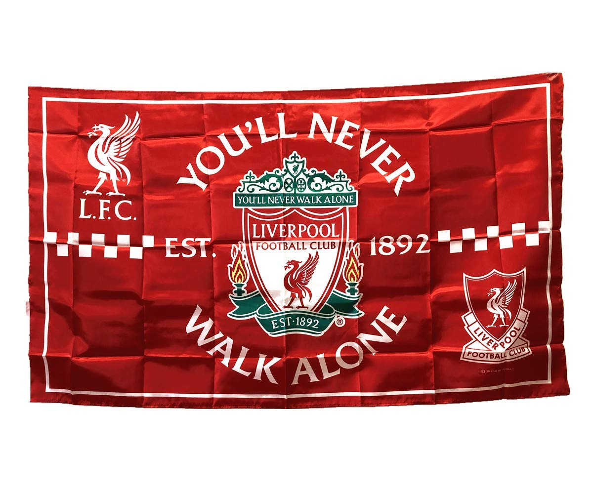 39843e808e7 UHBHEA Liverpool Soccer Flag - FC Club Banner for Wall Patio Garden Lawn  Outdoor Nylon Flag