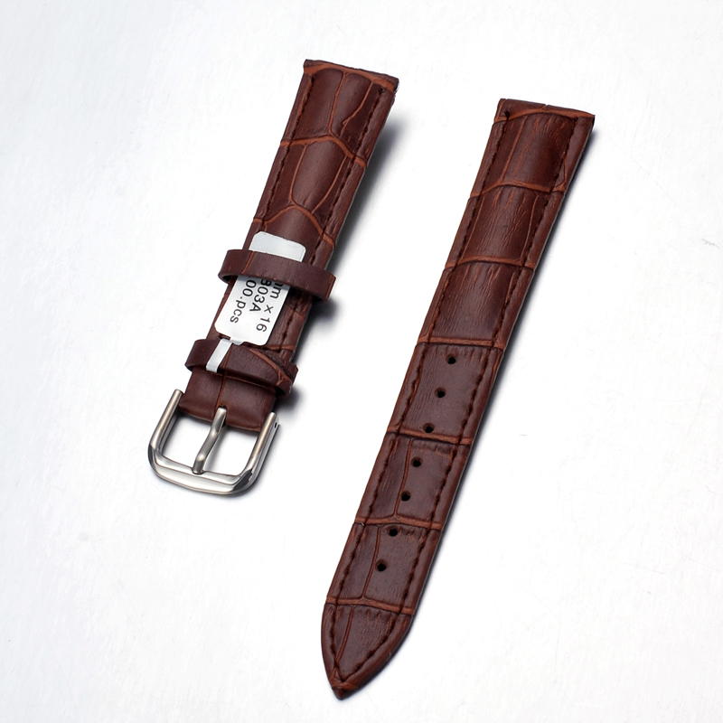 High classic plant oil hand make changeable genuine thin leather watch strap with interchangeable pin