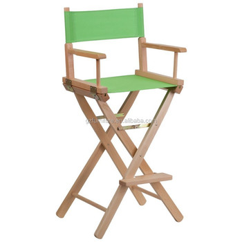 Cheap Outoor Camping Chair Tall Folding Director Chair Wooden Bar Chair