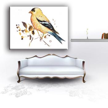 Asia Gaya Dekorasi Rumah Contoh Gambar Burung Desain Lukisan Kain