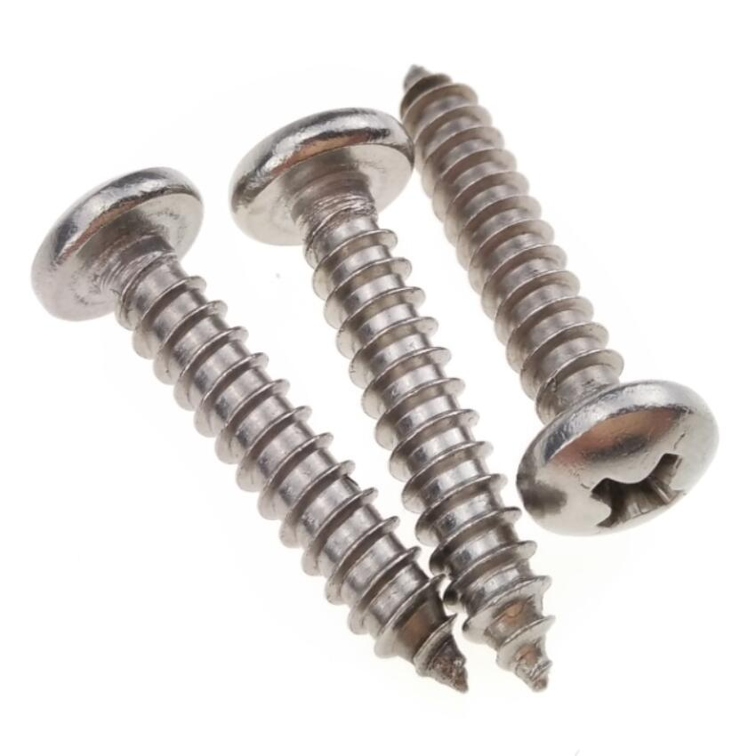 1000 x M1.4*3mm Phillips Round Head Self Tapping Sheet Metal Screws Ni Plated