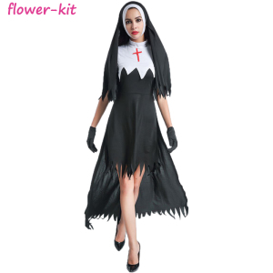 5ebfe17f0c513 New Sexy Naughty Nun Ladies Fancy Dress Halloween Costume
