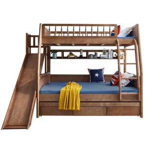 Wooden Bunk Bed Comfortable Steady for Two Person double bunk beds