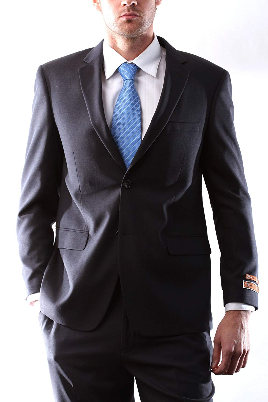 Martino Men's Wool Rich Dark Brown Color Slim Fit Dress Suit
