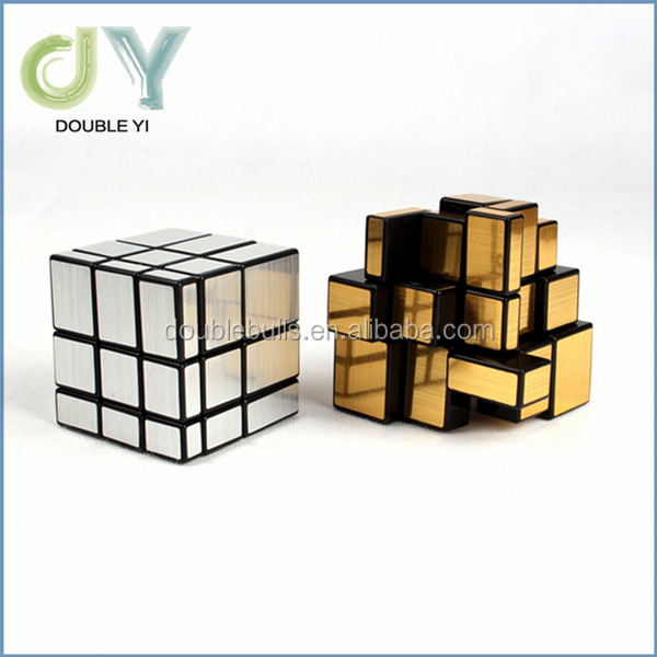 2017 new product sticker draw profiled ABS magic Mirror Cube Promotional Magic Puzzle Cube Wholesale