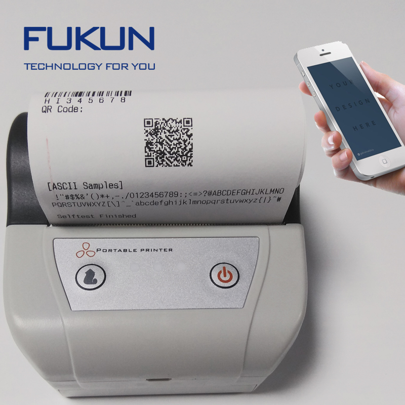 80mm Harga Android Celular Bluetooth Mobile Printer Thermal dengan Gulungan Kertas Termal