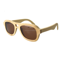 2018 Sunglasses eco-friendly custom logo bamboo shades 100% natural wooden eyewear