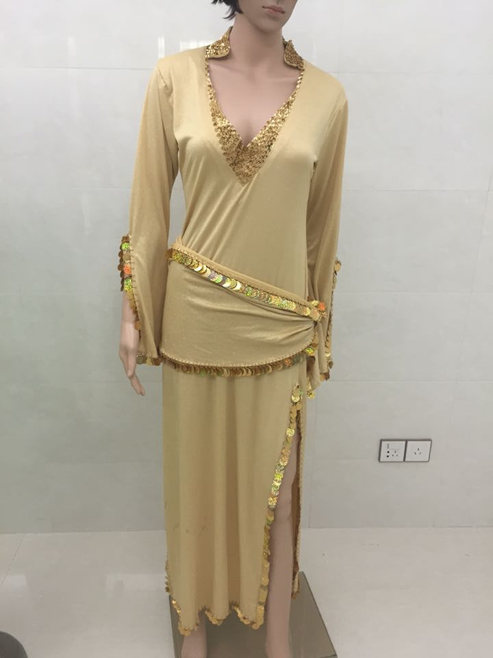 Glittery Long Islamic Dubai Arabic Saidi Muslim Gown Robe Dress ...