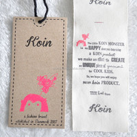 High Quality Custom Denim Hang Tags Design Jeans Hang Tag Designs