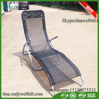 Wholesale Texlin Fabric Long Folding Outdoor Beach Rocking Chair