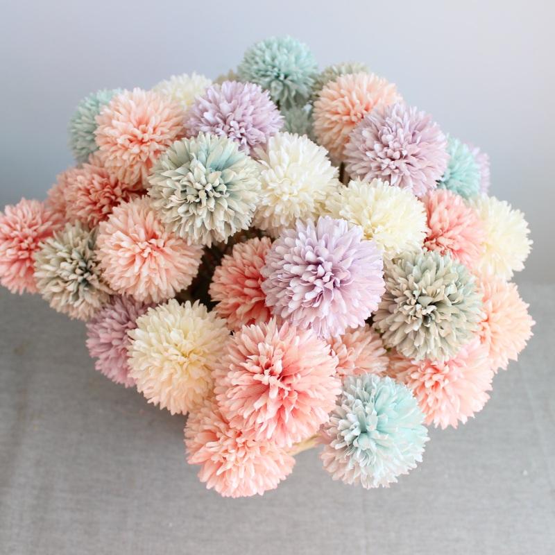 2020 オンラインショップホット販売花ピンポン菊造花タンポポ家の装飾