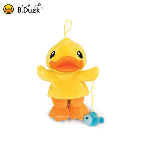 Novelty plush animal shaped costume puppet dancing duck puppets hot sale