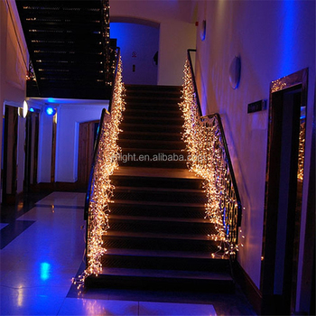 Stair Decoration Led Waterfall Light Icicle Stripe Window Curtain