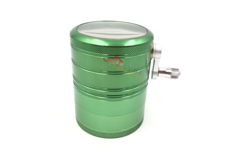 T049GA LVHE Wholesale Products Clear Top Hand Crank With Gear Grinder Herb