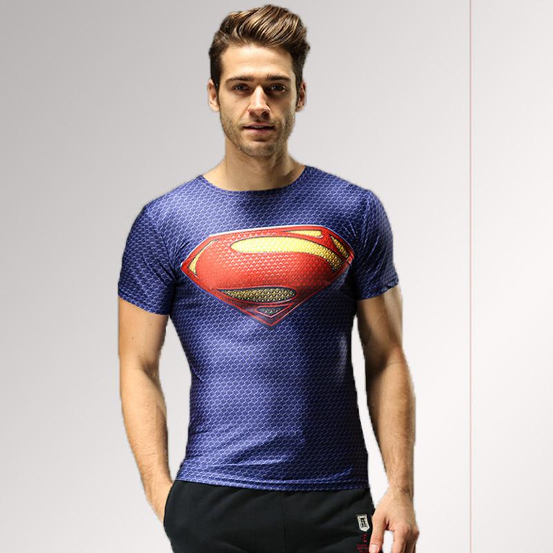 Marvel Super Hero Captain America Batman camisetas hombres