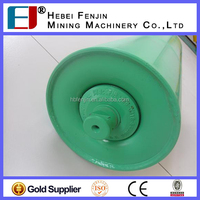 conveyor rubber impact roller suppplier idler Steel roller for Portland cement factory