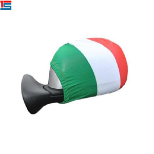 China manufacturer promotion Italy car rear view mirror flag with horn