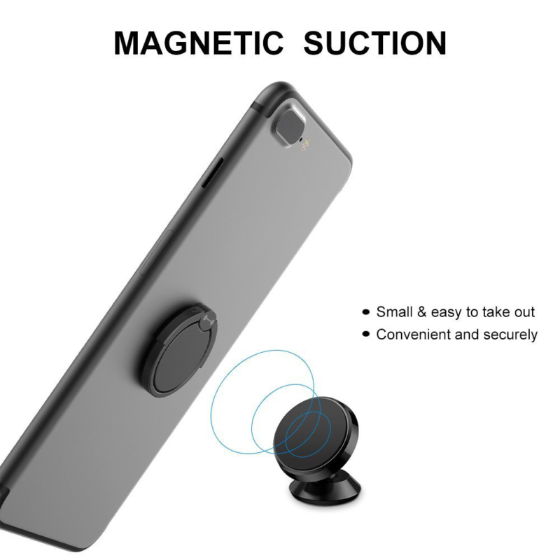 Amazon Best Selling Magnetic Attached Metal Finger Ring Holder Grip Phone Holder