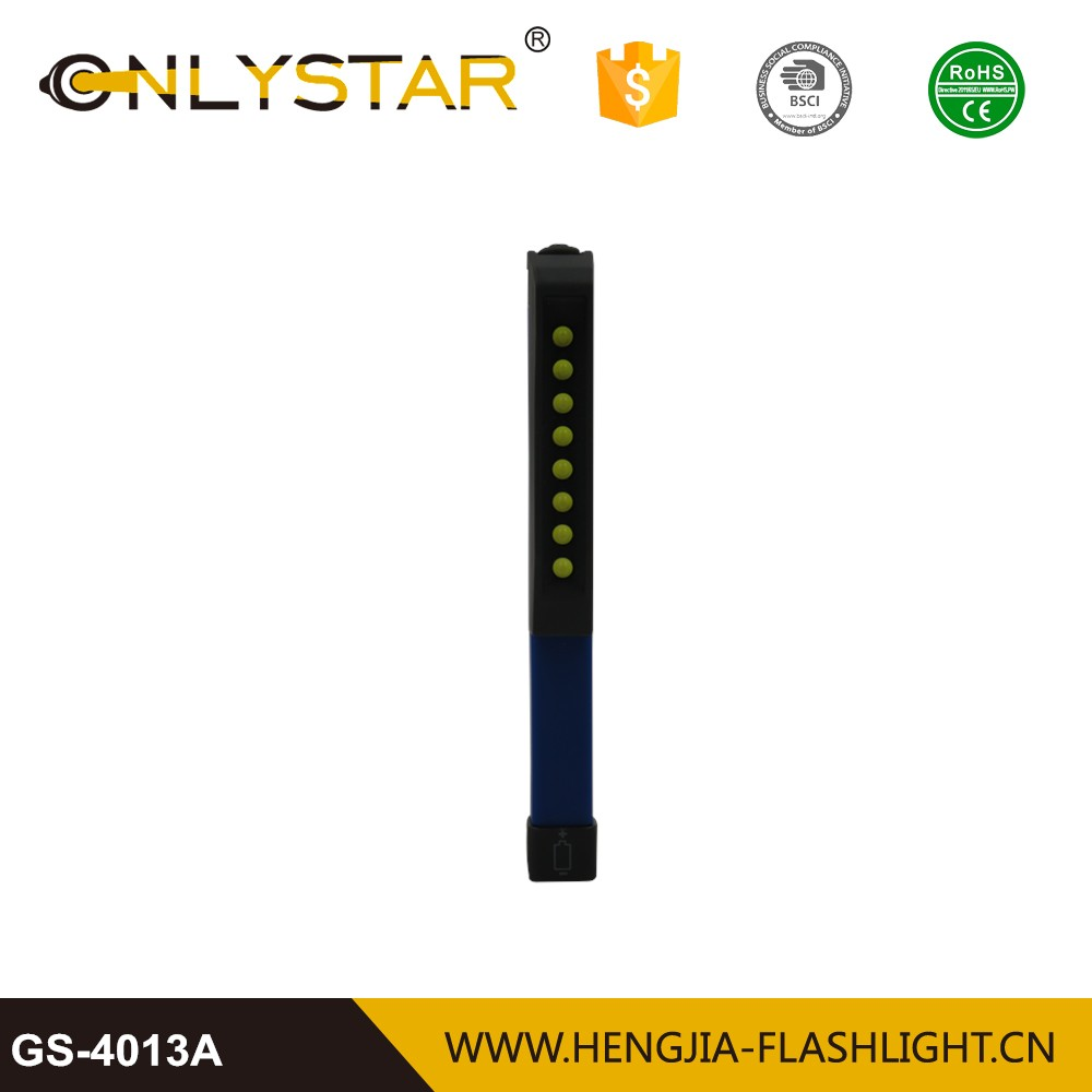8 led mini inspection lamp pen lights with pen buckle 180 degree rotation pocket magnetic work light