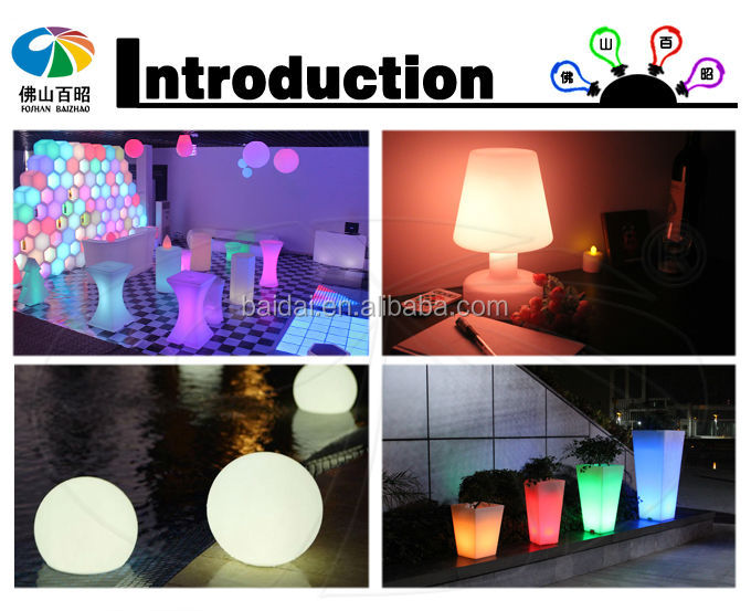 16 color flashing plastic LED flower pot LED planter