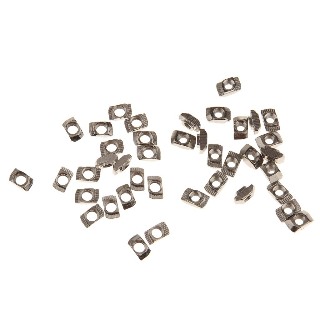 MonkeyJack 40pcs T Slot Nut Home Appliance Sliding Nut Block for 20 Series Profile M5 M4 Aluminum Frame