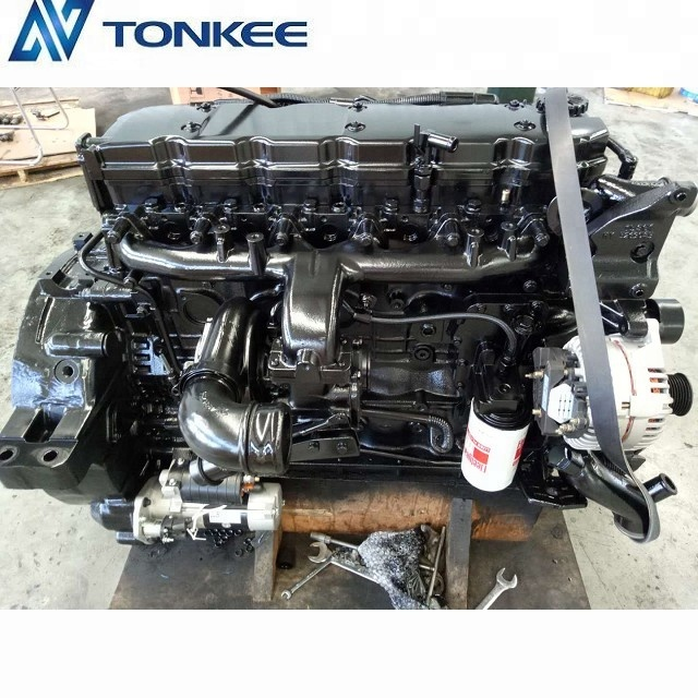 3066 hydraulic engine assy PC200 PC210 PC200-8 PC210-8 SAA6D107E-1  QSB6.7 260hp 194kW new diesel excavator engine assy