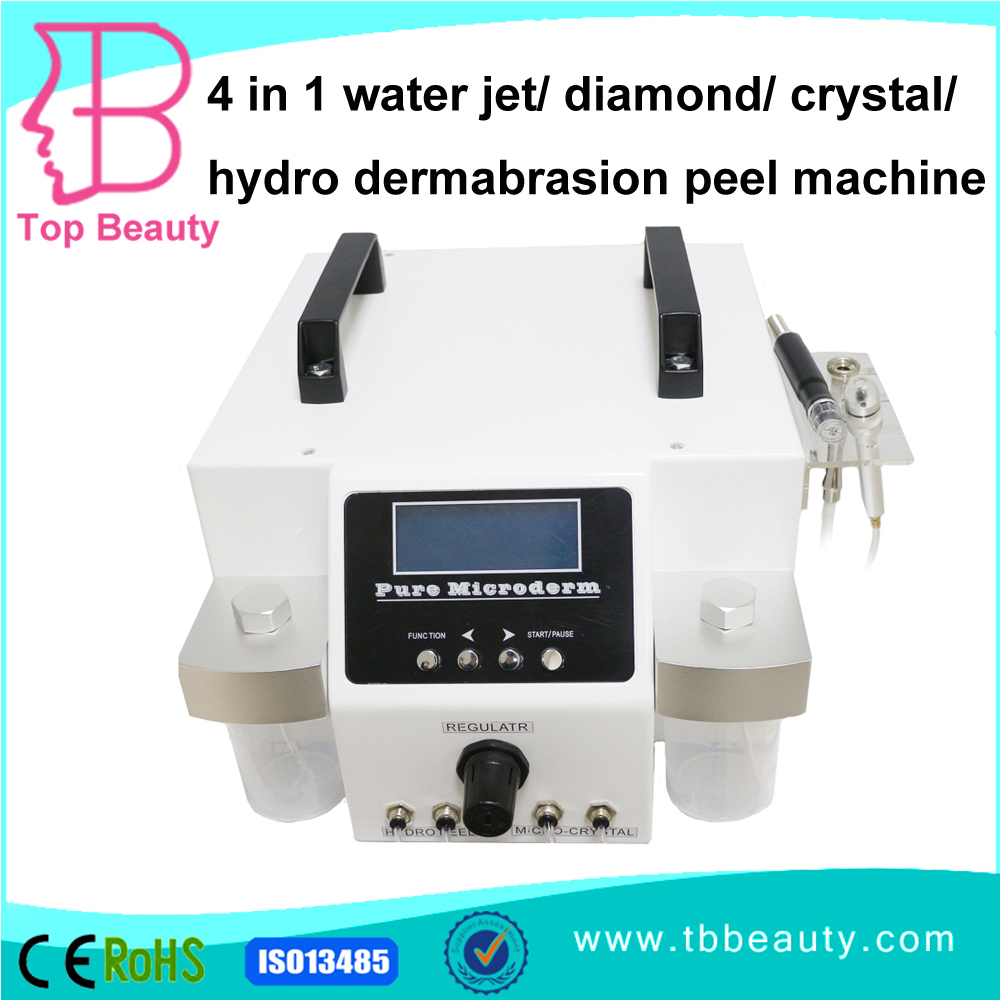 for sale 4 in 1 water jet/ diamond/ crystal/hydro microdermabrasion peel machine