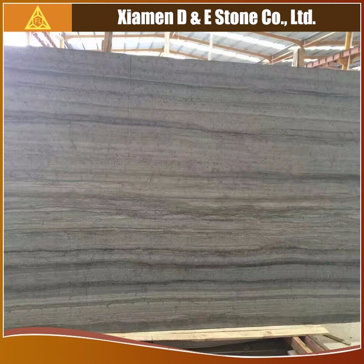 Polished Pelle Grigio Blue Wooden Marble Stone