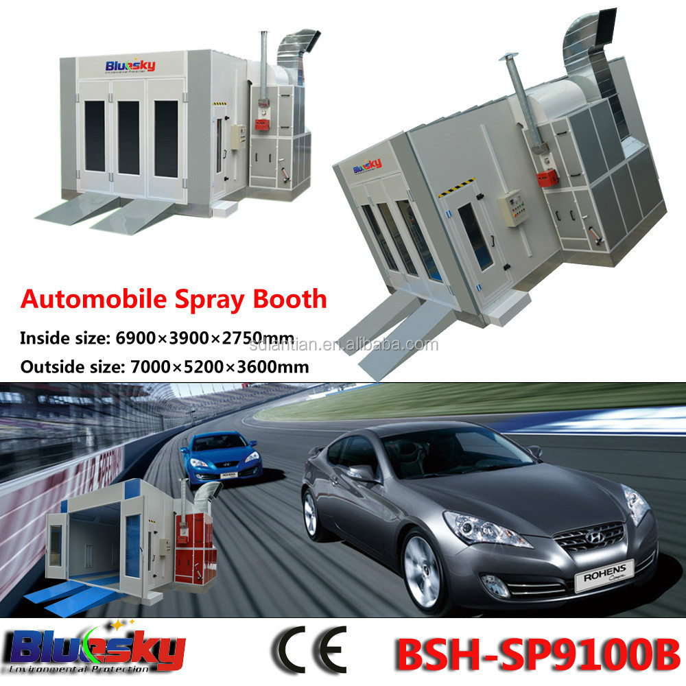 CE approved saico spray booth/paint shop equipment/painting house