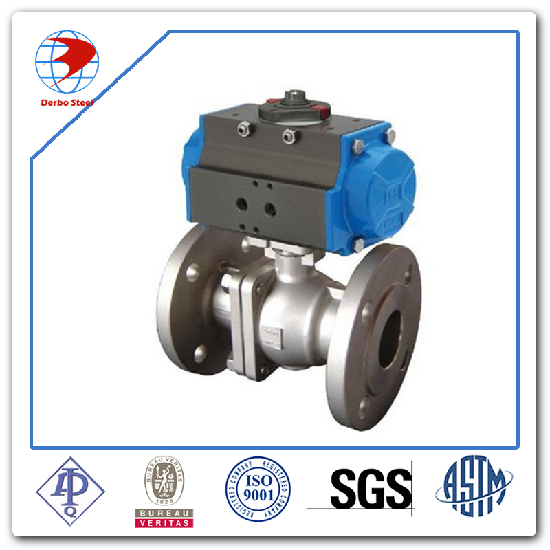 3 Pcs Pneumatic Actuator Ball Valve For Water Treatment Model ...