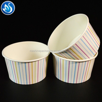 10.5Oz Custom Food Grade Ink Disposable Ice Cream Paper Cup