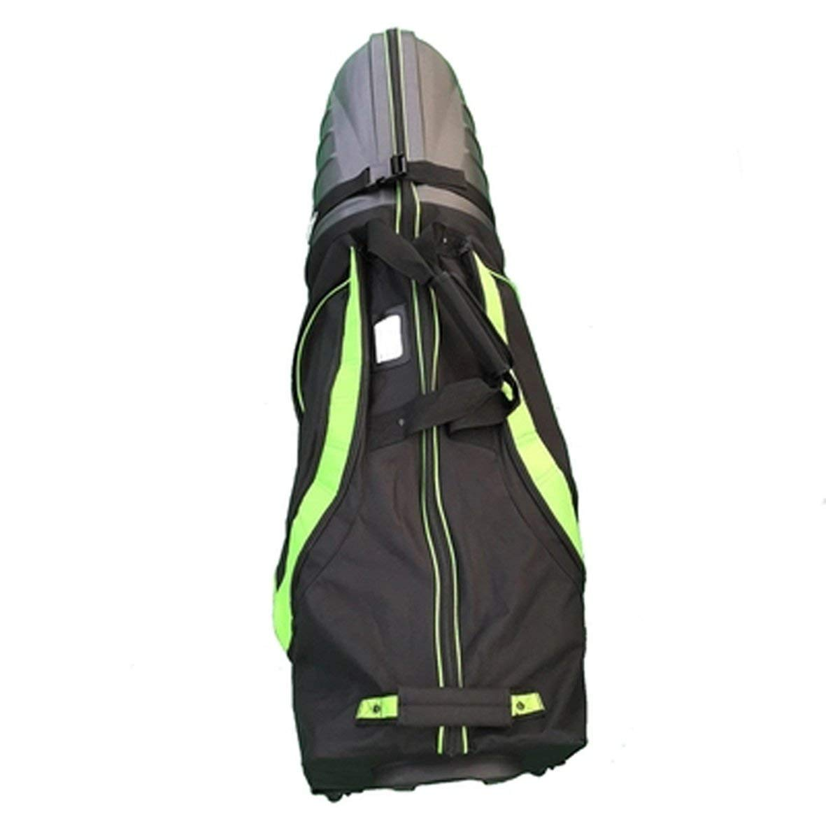 Get Quotations · PLAYEAGLE Golf Club Travel Cover Hard Top and Bottom  Shockproof Golf Cart Bag with Wheels Portable 076a35487804f