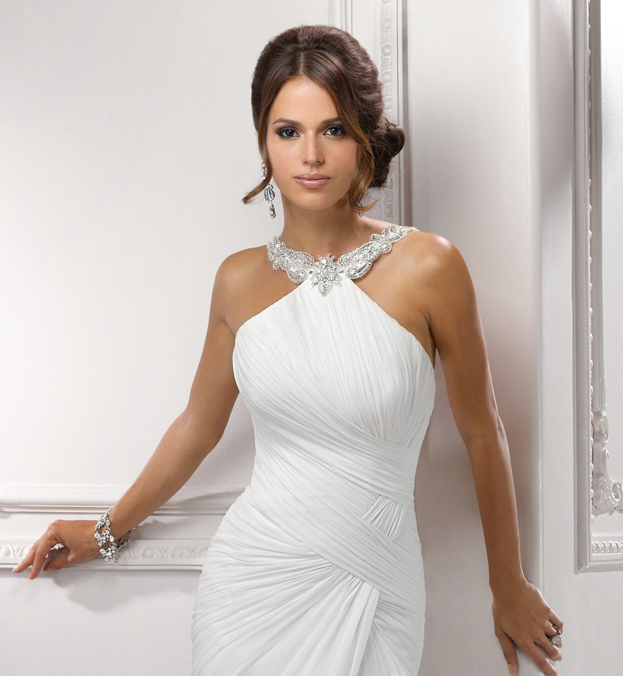 Summer Halter Top Wedding Dresses Fashion Dresses